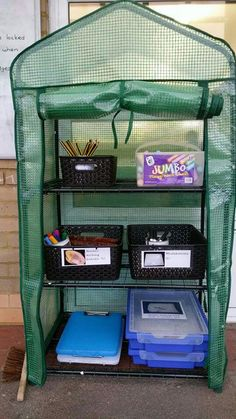 Outdoor writing trolley