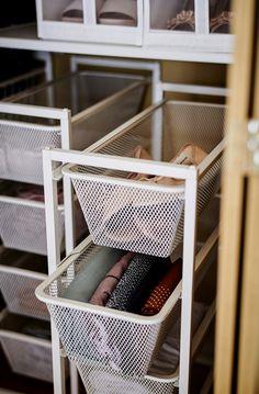 Closet Storage, Storage Drawers, Smart Storage, Ikea Pantry Storage, Neat And Tidy, Tidy Up, Bathroom Organization, Ikea Organization Hacks, Decorating Rooms