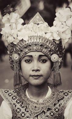 portrait bhisama dancer from tabanan, bali, indonesia