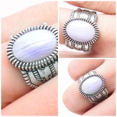 Favourite of the week: sterling silver statement ring /w blue agate. Price: 3990 HUF  A hét kedvence: sterling ezüst 'statement' gyűrű kék acháttal. Ára: 3990 Ft.