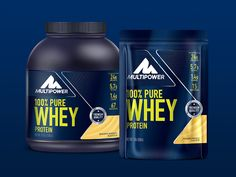 Multipower Rebrand on Packaging of the World - Creative Package Design Gallery Athlete Nutrition, Sports Nutrition, Nutrition Education, Physical Education, Holistic Nutrition, Health And Nutrition, Bodybuilding Recipes, Boost Immune System, Label Design