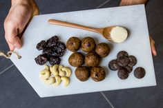 Energy Balls Energy Balls, Healthy Treats, 4 Ingredients, High Protein, Almond, Train, Vegetables, Food, Zug