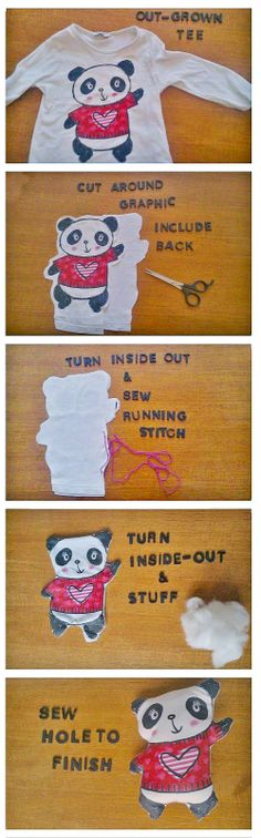 Save a favorite outgrown shirt and try this!