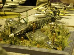 1/72 Pacific Hurricane crash diorama by Lightningboy2000, via Flickr