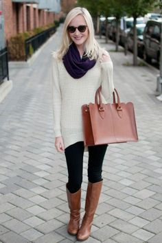 Simple Sundays: Leggings, Oversized Sweaters, and Infinity Scarves