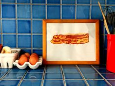 Bacon Is Good For Me Pop Painting by ThatsHighlyOffensive on Etsy https://www.etsy.com/listing/229496325/bacon-is-good-for-me-pop-painting