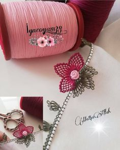 Flower Embroidery Designs, Lace Making, Personalized Items, How To Make, Accessories, Belt, Instagram, Fashion, Embroidery