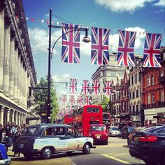 Try and see Oxford St. before the Queen's Jubilee. I wish we could have the flags up all year round!