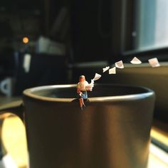 Sometimes we just want to toss everything and not care about it. #burnedout #frustrated #dontcare #adagency #AgencyLife #miniature #paper #agencyproblem #igiveup #stressed