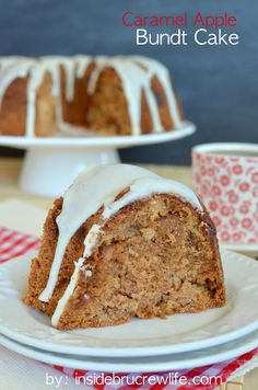 Caramel Apple Bundt Cake - apple and caramel bits make this one delicious spice cake for fall