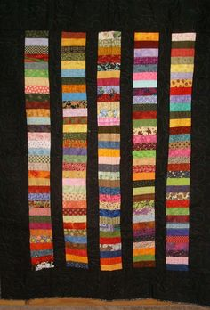 Scrappy Chinese Coin Quilt