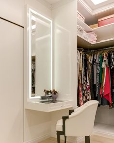 Super Home Office Closet Pequeno Ideas Bathroom Closet, Closet Bedroom, Bedroom Decor, Girl Closet, Walking Closet, Modern Closet, Simple Closet, Closets Pequenos, Home Office Closet