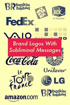 Brand logos with subliminal messages