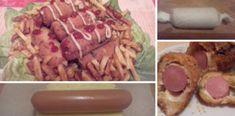 Hot dog egy kicsit másként, forgasd tojásba és zsemlemorzsába, majd süsd ki olajban! Hot Dogs, Sausage, Meat, Recipes, Food, Sausages, Rezepte, Essen, Recipe