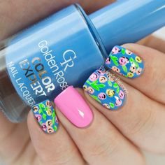 Mani Swap + Day 14: Floral Nails