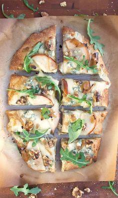 Pear, Walnut, Blue Cheese Artisan Pizza - 2Teaspoons