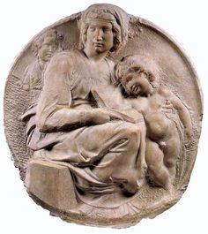 Tondo Pitti, Michelangelo Buonarroti, marmo, 1503-1505, Museo Nazionale del Bargello, Firenze