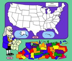 "This website has a game called ""place that state"" This game allows students to place states in the proper place when they are all mixed up. It is an effective website to allow students to review the states and capitals. I think this would be a good website to provide students to allow them to study at home."