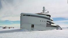 Ice breaker yacht