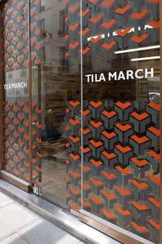 Tila March X David Hicks Pop up Shop Storefront Window Decal Patterns:
