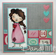 I Carry Your Heart with Me Card - stamp from Stamping Bella