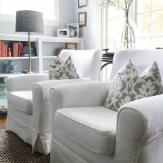 the jennylund #slipcover #chairs from @ikea have NOT let me down Home With Keki: Slipcover Furniture in the Living Room