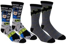 Batman Mens Casual Crew Socks 2 Pair Packblackonesize >>> Be sure to check out this awesome product.Note:It is affiliate link to Amazon.