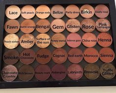 Anastasia Beverly Hills eyeshadows--Love this color pallette!