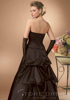 Gorgeous Cascading Ruffles Trumpet Floor-length One-Shoulder Bridesmaid Dress at Storedress.com