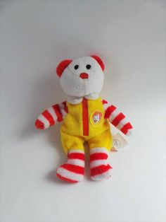 d5253e9100e TY Ronald McDonald Teenie Beanie Baby Bear - Collectible Toys by  NadyasVintageNook on Etsy