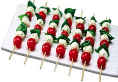 Tomato Basil Skewers - Once you gorge on them, they just melt in your mouth.