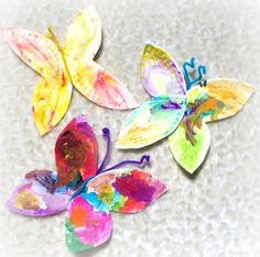 Directions for making paperplate butterflies! Seems easy enough too! Great for a spring craft, or summer, really!