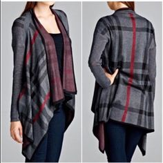 Last One❗️Open front cardigan Open front plaid cardigan. Please do not purchase this listing. Comment and I will create a new listing for you. Only S/M available. Price is firm unless bundled. Sweaters Cardigans