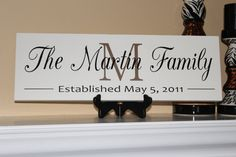 Personalized Wedding Gift Family Name Painted by HomesteadWoodShop, $44