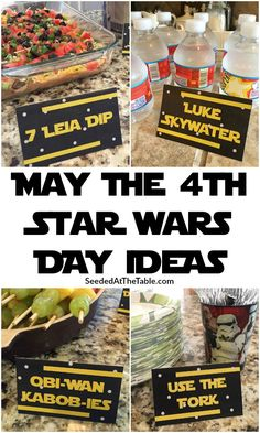 May the be with you this Star Wars Day with these EASY galaxy food ideas! Star Wars Themed Food, Star Wars Party Food, Star Wars Food, Star Wars Cake, Star Wars Kids, Girls Star Wars Party, Food Themes, Food Ideas, May Themes