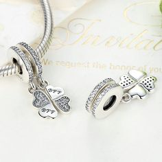 Best friends are forever and there is no better way of expressing this than with this adorable sterling silver charm. Made up of two separate dangles, each consisting of two hearts and the sweet message 'BFF', it is meant to be shared between two devoted friends.