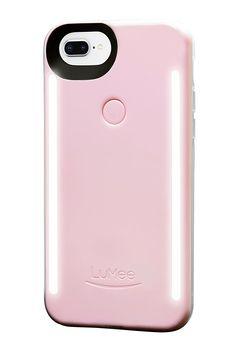 LuMee Duo for iPhone 8 Plus/7 Plus/6s Plus/6 Plus, The Original and Authentic Patent Protected Selfie Case - Ballet Slipper