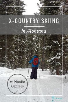 Find the groomed Nordic trails in Montana, a Nordic ski map, and a description of each cross country ski area, along with what to pack for cross country skiing. Family Adventure, Adventure Travel, Winter Hiking, Winter Running, Winter Fun, Winter Travel, Winter Snow, Us Travel Destinations, Cross Country Skiing