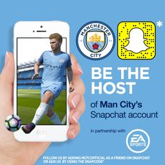 BE THE HOST OF MAN CITY'S SNAPCHAT ACCOUNT