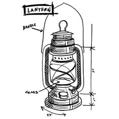 Tim Holtz Rubber Stamp 2014 LANTERN SKETCH Stampers Anonymous U1-2420