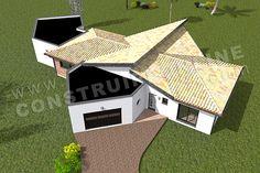 Plan de maison moderne PANDORE Casa Patio, Irene, Outdoor Decor, House, Home Decor, Blue Prints, Home Ideas, Pandora, Decoration Home