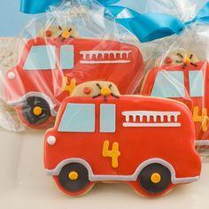 Fire truck cookies - www.etsy.com/shop/TSCookies