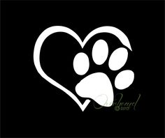 Paw with Heart I love my Dog Pet Window Vinyl Car by Overhemd, $5.49
