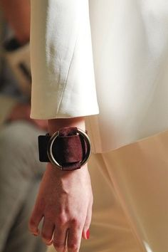 Celine 2012SS Suede Leather Cuff