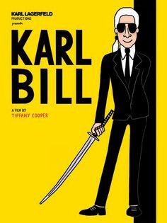 """Na nova exposição de Karl Lagerfeld, a """"Karlywood"""", o estilista aparece ilustrado em posters de filmes de sucesso - vem saber mais!"""