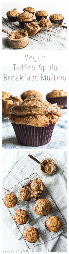 My Vibrant Kitchen | Vegan Toffee Apple Breakfast Muffins | myvibrantkitchen.com