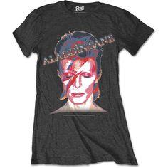 David Bowie Women's Tee: Aladdin Sane Wholesale Ref:BOWTS12LC
