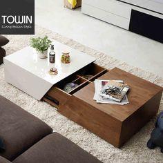 淘营家具 北欧风格可伸缩茶几 现代客厅小户型储物茶几 KC299-tmall.com天猫