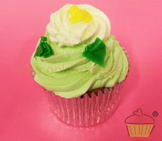 C945 - Jasmine & Lime Cupcake - Premium Cupcakes- Egg free cakes from Only Eggless