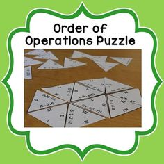 On sale for $1 for July 12- find more deals by searching #mathdollardeals! Give this hands-on activity a try for a fun way to practice simplifying expressions with order of operations. The puzzle includes 30 problems to simplify and create a hexagon when finished.